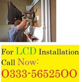 Led lcd wall mount installation services