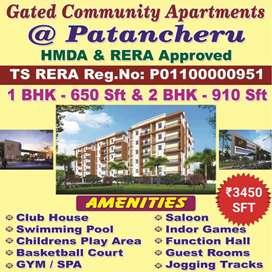 At Patancheru 1Bhk apartment flats