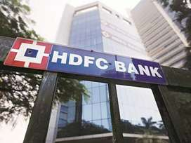 Urgent requirement HDFC Bank for male and female candidate reqeired