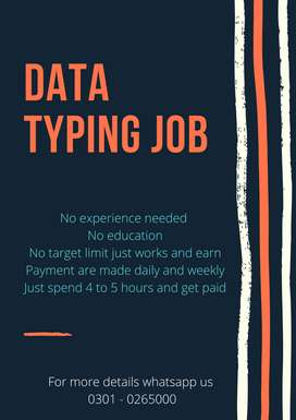 Earnings are now easy at home by online Data Typing job for students