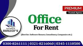 Luxury Office on Rent for Software House & Multinational Companies