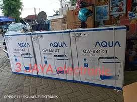 Ter LAKU - mesin cuci AQUA japan 2 tabung kapasitas 8 kg