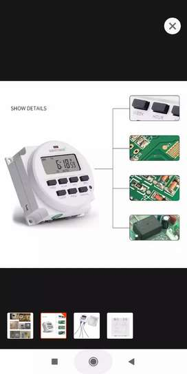 BIG LCD 1.6 Inch Digital 220V 230V AC 7 Days Programmable Timer Swi