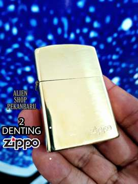 Korek api Zippo 2 denting GOLD polos premium