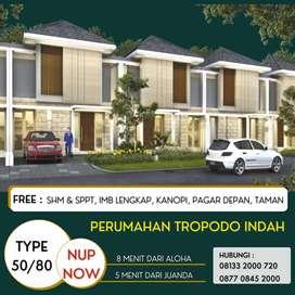 Jual Rumah 1 Lantai 500 Jutaan Tropodo Indah Dekat Juanda Surabaya