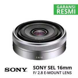 Lensa sony sel 16mm f2.8 pancake cash kredit