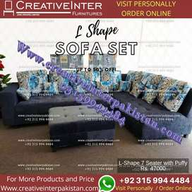Sofa set wooden bed wardrobe iron stand center table chair dressing