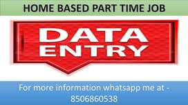 Simple DATA ENTRY work Part time HOME BASE job EARN 4k to 6k weekly.