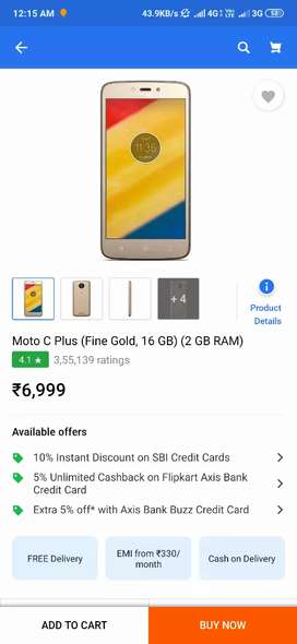 Moto c plus in mint cndtn