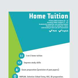 I am a tutor,i take home tution class from 3rd to 9th