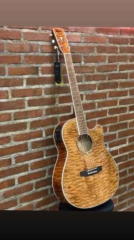 Gitar Cort MJ QEDX NAT Acoustic Electric Guitar Natural Finish