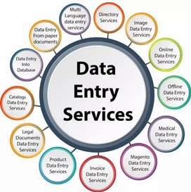 Data entry home based job work from home