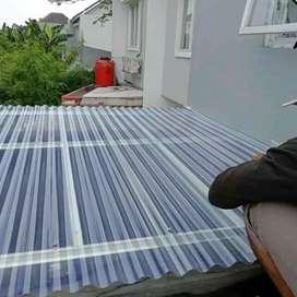 Kanopi atap transparan rangka baja ringan