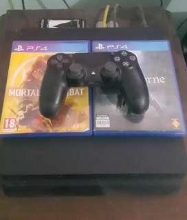 Jual PS4 Slim 500gb + 2 Kaset BD