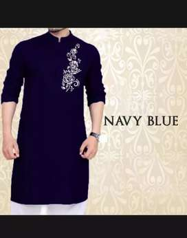 Cheast flower ready mate kurta navy blue ( description must read ok )