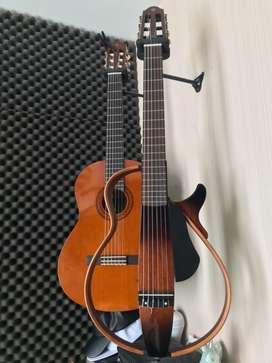 Yamaha silent guitar slg 200n (tobacco burst) langka