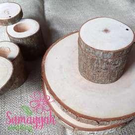 Wooden Ringbear/tempat cincin kayu