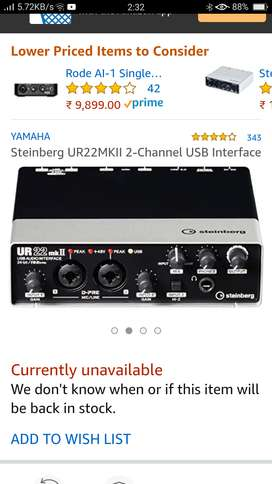 Ur22mk interface(soundcard)