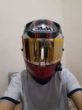 HJC rpha 10 repaint deadpool size S visor 3