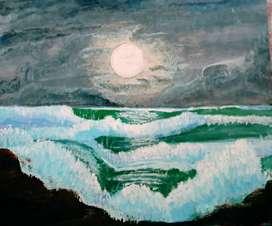 Acrylic sea painting