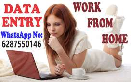 data entry job work at home with weekly payment