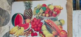 Wall Decor Fruit printed on wooden frame
