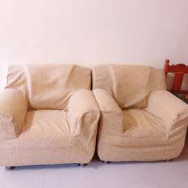 Sofa Set (3+1+1) 5 Seater with cover
