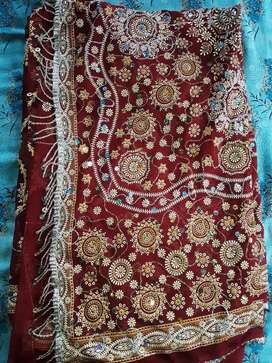Bridal designer Party wear saree with Blouse Piece Fully new not used
