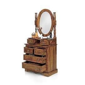 Antique Wooden Dressing Table Set (Mirror Broken)
