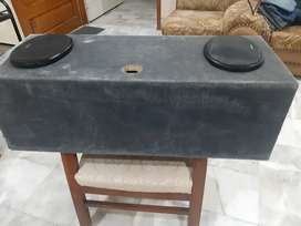 Closed Woofer Box Wooden with 6 speakers