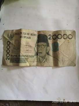 Uang jadul uang dia puluh ribuan th 1998