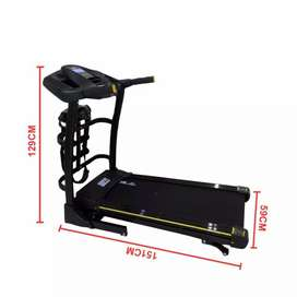 Treadmill elektrik multifungsi desain kokoh dan modern, bisa cod