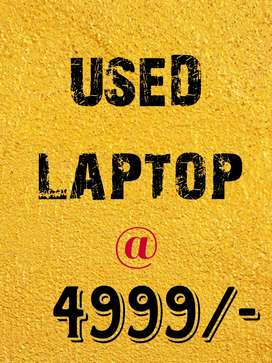USED LAPTOP @ 4999/-