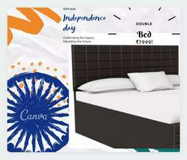 Brand new cheapest price double bed avilable