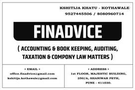 Accounting And Book Keeping, Tax Consultancy, Auditing, Company Law