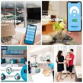 Apartmen mewah cicilan 1 jutaan kota mandiri smart home system