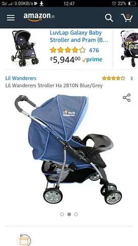 Baby stroller one hand fold