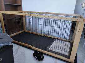 Wooden cage for dogs