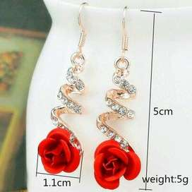 Red Rose Drop earring For Women