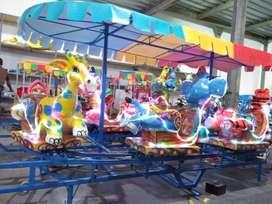 odong kereta panggung mainan edukasi labirin run pasar malam DCN