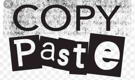 Copy Pasting work from home based