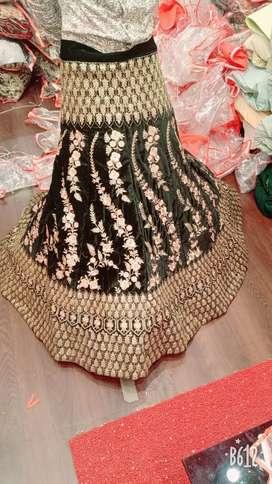 Stitched bridal lehanga