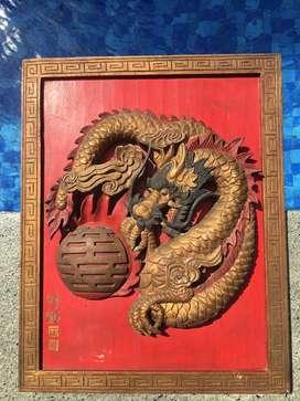 Blawong Ukir Naga 3D Kuno