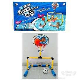 Mainan Edukasi Anak Gawang Bola Air dan Ring Basket/Water Polo Series