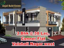 3 bhk luxurious Conner flat with  2 big balcony, Vaishali Nagar West.