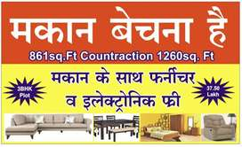 3 bhk full furnished house house is ready for sale in santoshi nagar