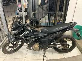 SATRIA F PREDATOR BLACK 150 DI DJAYA MOTOR ANTASARI BISA CASH/KREDIT