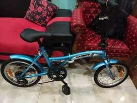 "Sepeda lipat GENIO by united, cardiff 16"" 6 speed . siap pakai"