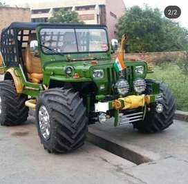 Green willy jeep