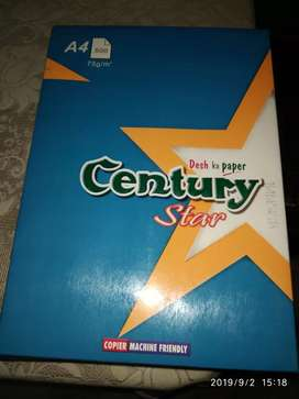 CENTURY A4 SIZE PAPER {(2 RIMS) at just Rs. 240